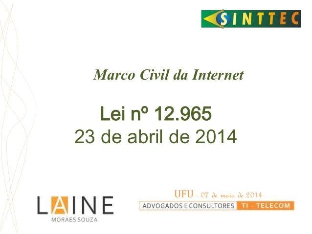Resultado de imagem para altera o Marco Civil da Internet (Lei 12.965/2014)