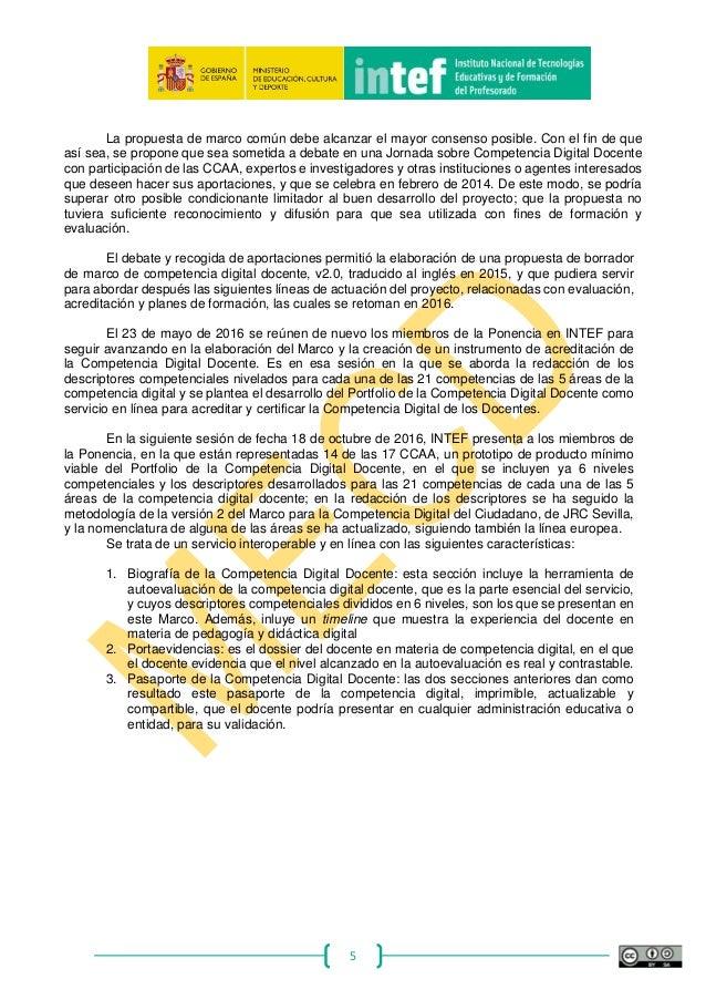 Marco Común de Competencia Digital Docente - 2017