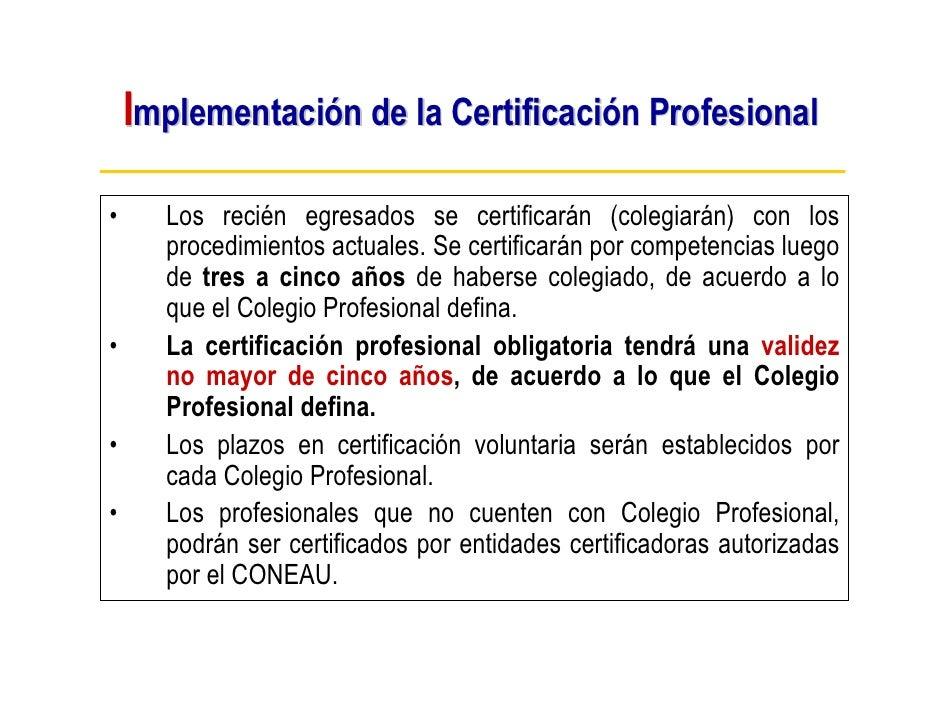 Marco conceptual de la Certificación Profesional por Competencias en …