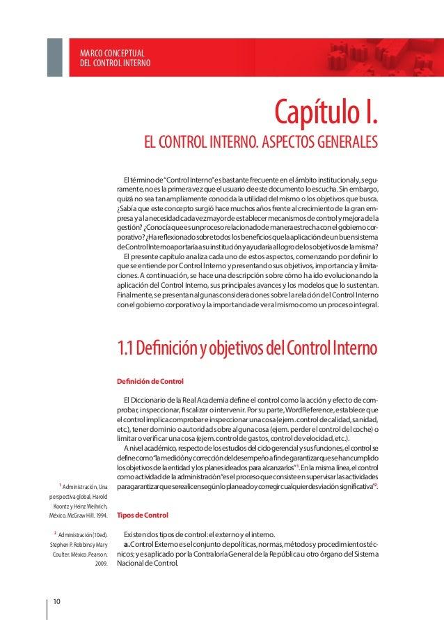 Marco conceptual del control interno cgr y giz for Interno wordreference