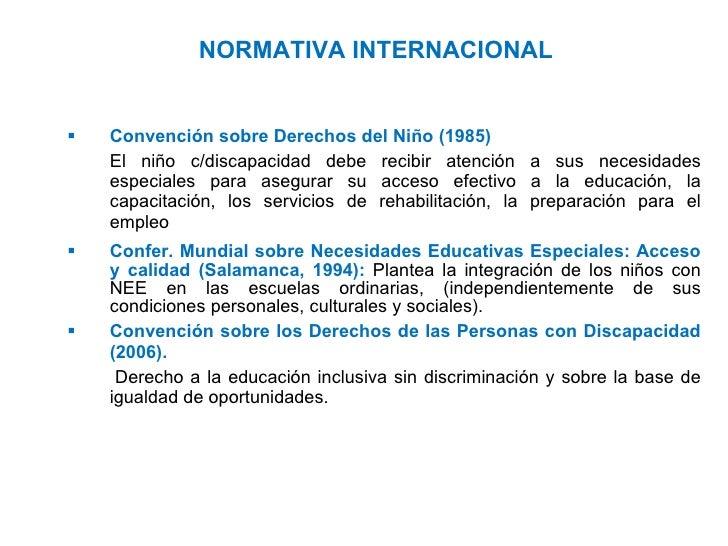 Marco Conceptual Y Legal De La Educaci N Inclusiva