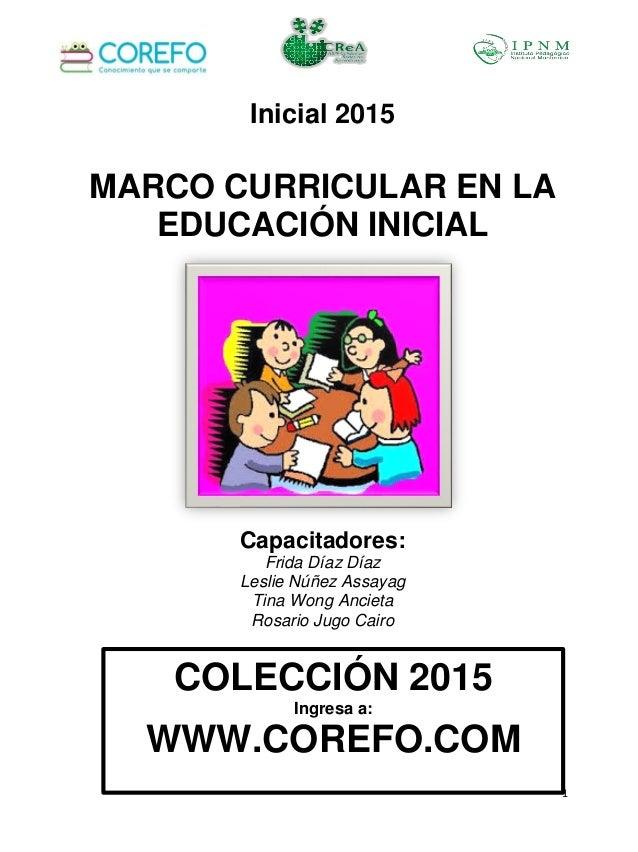 Marco curricular en la educaci n inicial for Programa curricular de educacion inicial