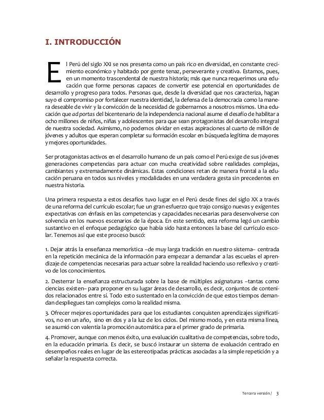 Marco curricular nacional 3ra version