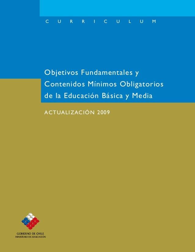 GOBIERNO DE CHILEMINISTERIO DE EDUCACIÓNGOBIERNO DE CHILEMINISTERIO DE EDUCACIÓNC U R R I C U L U MEsta publicación reúne ...