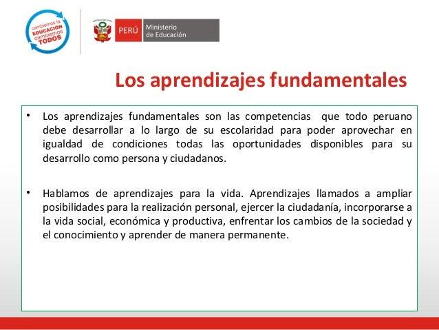 Aprendizajes fundamentales en el marco curricular 1 acceden a la.