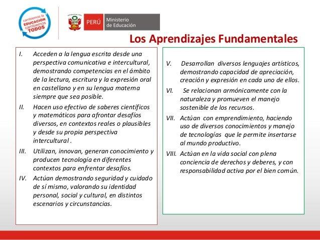 Aprendizajes fundamentales minedu ppt.