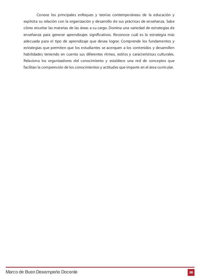 Conoce los principales enfoques y teorías contemporáneas de la educación y explicita su relación con la organización y des...