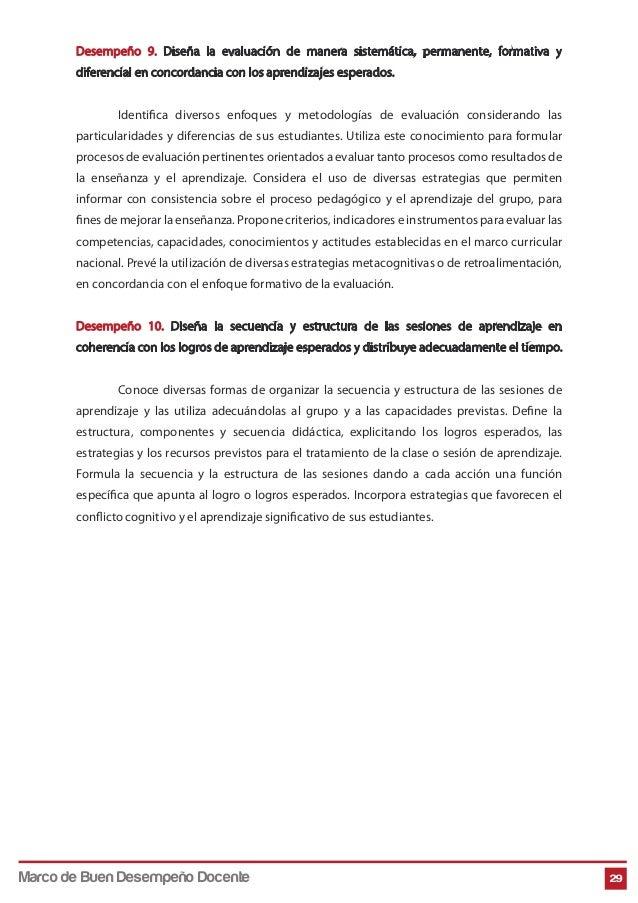 Desempeño 9. Diseña la evaluación de manera sistemática, permanente, formativa y diferencial en concordancia con los apren...