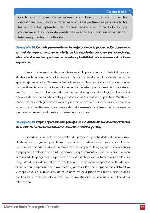 Competencia 4 Conduce el proceso de enseñanza con dominio de los contenidos disciplinares y el uso de estrategias y recurs...
