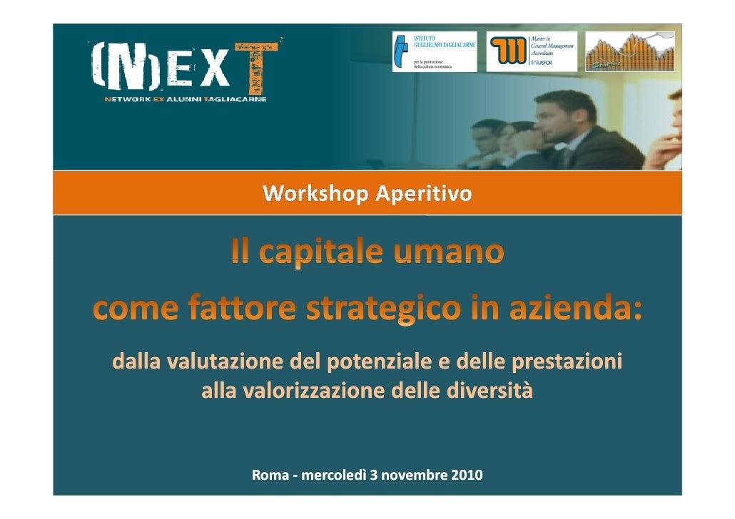 dalla valutazione del potenziale e delle prestazioni         alla valorizzazione delle diversità              Roma - merco...