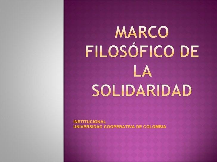INSTITUCIONAL UNIVERSIDAD COOPERATIVA DE COLOMBIA