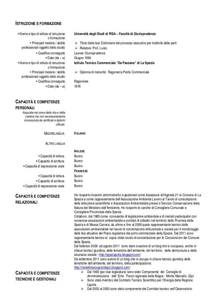 marco grondacci cv europeo