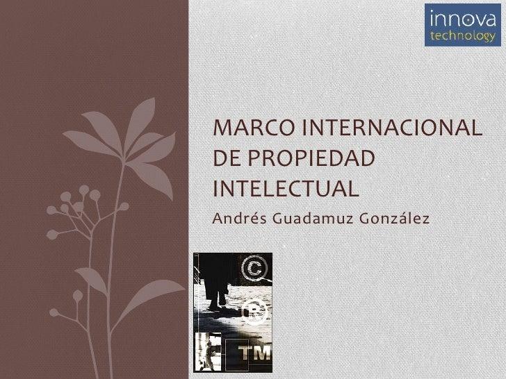 Marco Internacional de Propiedad Intelectual<br />Andrés Guadamuz González<br />