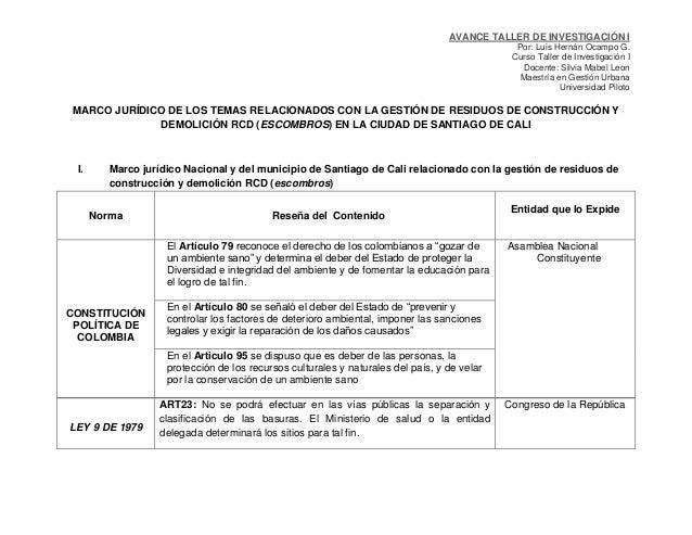 AVANCE TALLER DE INVESTIGACIÓN I                                                                                          ...