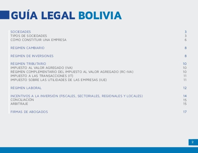 Marco Legal Bolivia