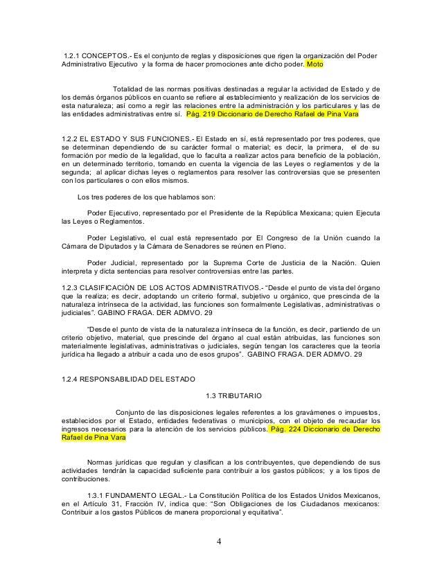 1.2.1 CONCEPTOS.- Es el conjunto de reglas y disposiciones que rigen la organización del Poder Administrativo Ejecutivo y ...