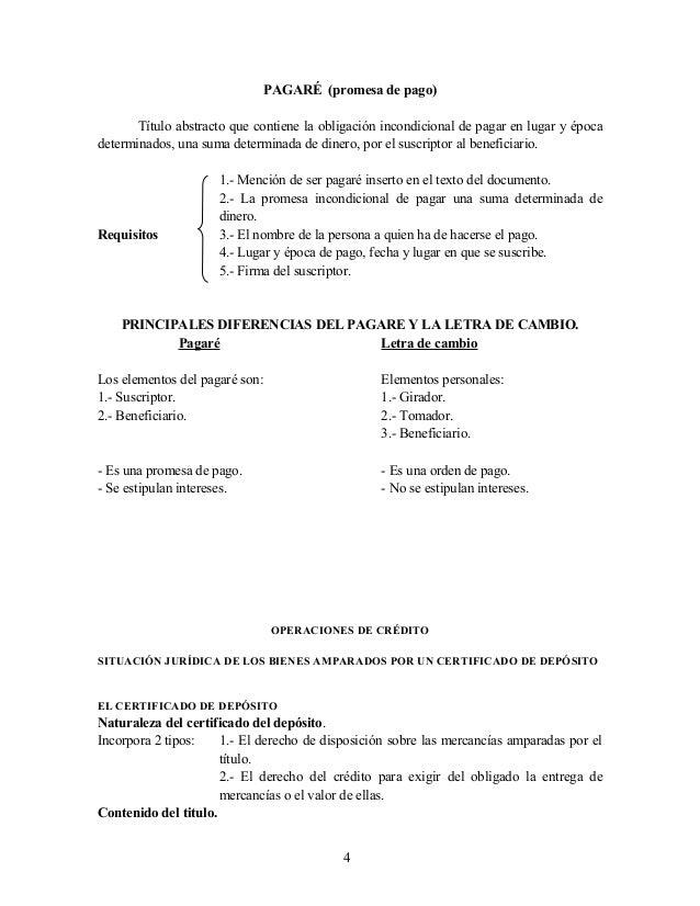 PAGARÉ (promesa de pago) Título abstracto que contiene la obligación incondicional de pagar en lugar y época determinados,...
