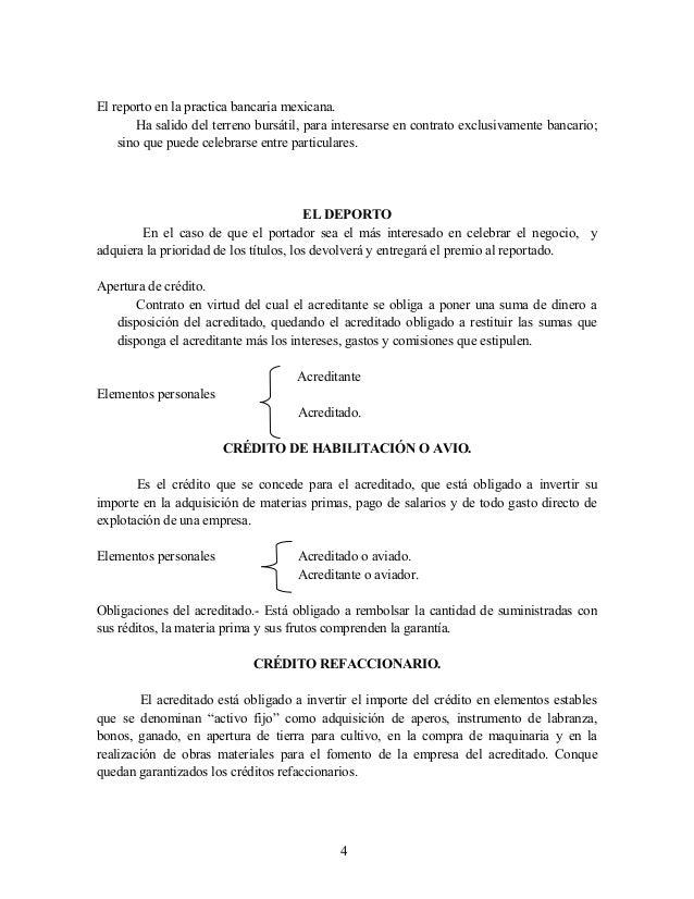 El reporto en la practica bancaria mexicana. Ha salido del terreno bursátil, para interesarse en contrato exclusivamente b...
