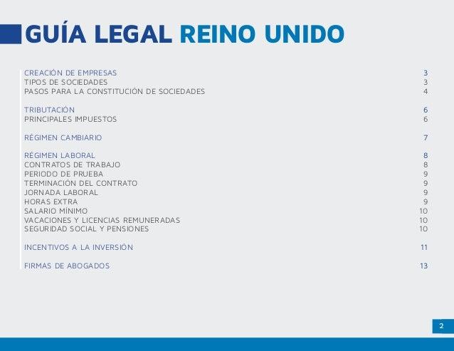 Marco legal Reino Unido