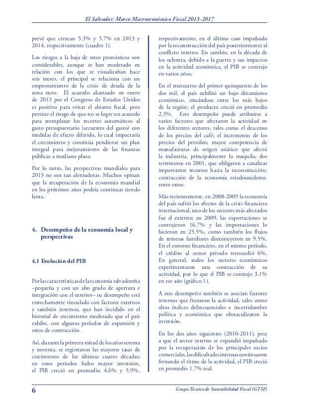 Estudio: Marco Macroeconómico Fiscal 2013-2017