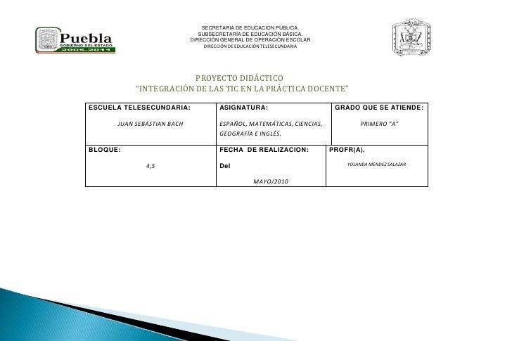 SECRETARIA DE EDUCACION PÚBLICA.<br />SUBSECRETARÍA DE EDUCACIÓN BÁSICA.<br />DIRECCIÓN GENERAL DE OPERACIÓN ESCOLAR<br />...