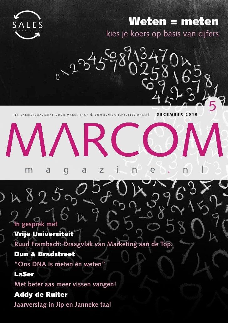 Weten = meten                                                kiesjekoersopbasisvancijfershét carrièremagazine voor marketi...
