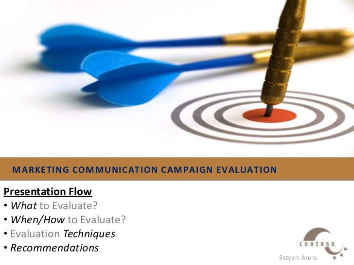MARKETING COMMUNICATION Campaign Evaluation<br />Presentation Flow<br /><ul><li>Whatto Evaluate?