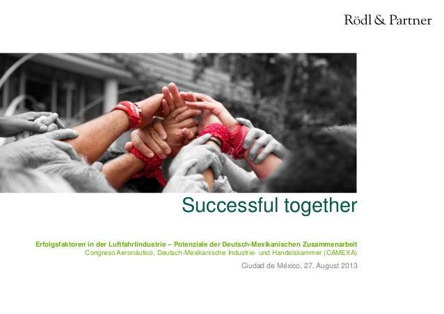 1© Rödl & Partner 27.08.2013 Successful together Ciudad de México, 27. August 2013 Erfolgsfaktoren in der Luftfahrtindustr...