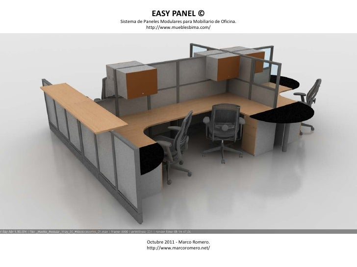 EASY PANEL ©Sistema de Paneles Modulares para Mobiliario de Oficina.            http://www.mueblesbima.com/            Oct...
