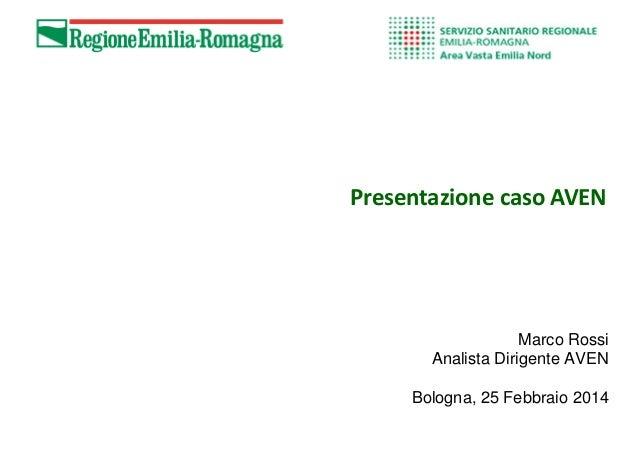 Presentazione caso AVEN Marco Rossi Analista Dirigente AVEN Bologna, 25 Febbraio 2014