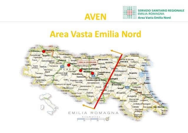 Inserire cartina AVEN Area Vasta Emilia Nord