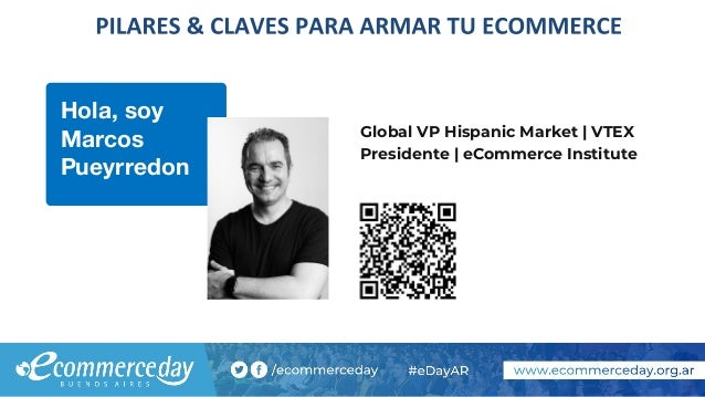 Hola, soy Marcos Pueyrredon Global VP Hispanic Market | VTEX Presidente | eCommerce Institute
