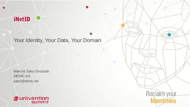 iNetID Your Identity, Your Data, Your Domain Marcos Sanz Grossón DENIC eG sanz@denic.de