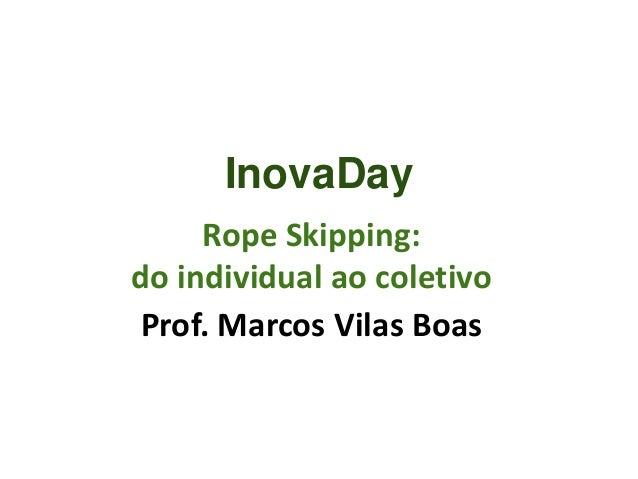 Rope Skipping: do individual ao coletivo Prof. Marcos Vilas Boas InovaDay