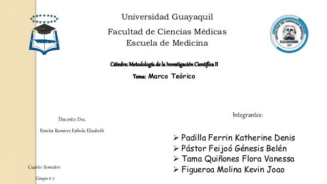 Universidad Guayaquil Facultad de Ciencias Médicas Escuela de Medicina Cátedra:Metodologíade la InvestigaciónCientíficaII ...