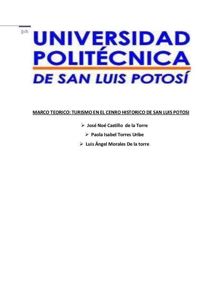 <br />MARCO TEORICO: TURISMO EN EL CEN...