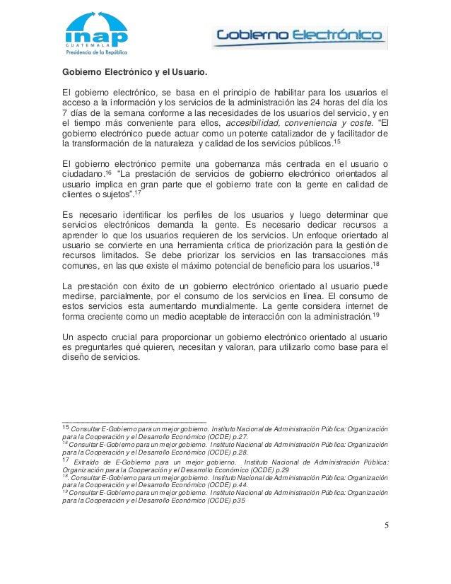 Marco teórico conceptual gobierno electrónico
