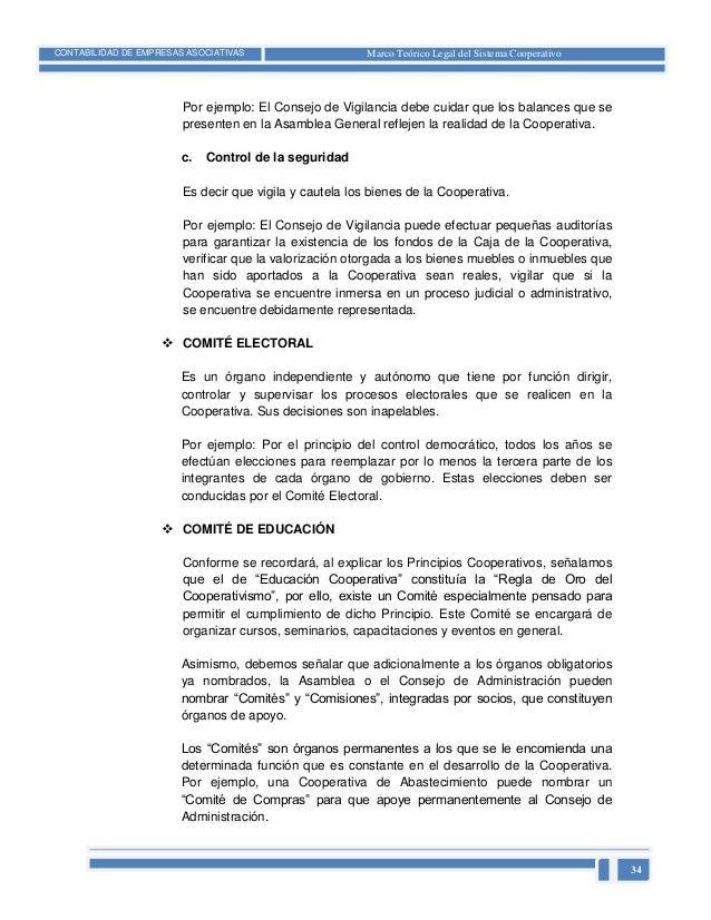 Marco Teorico Legal De Las Cooperativas