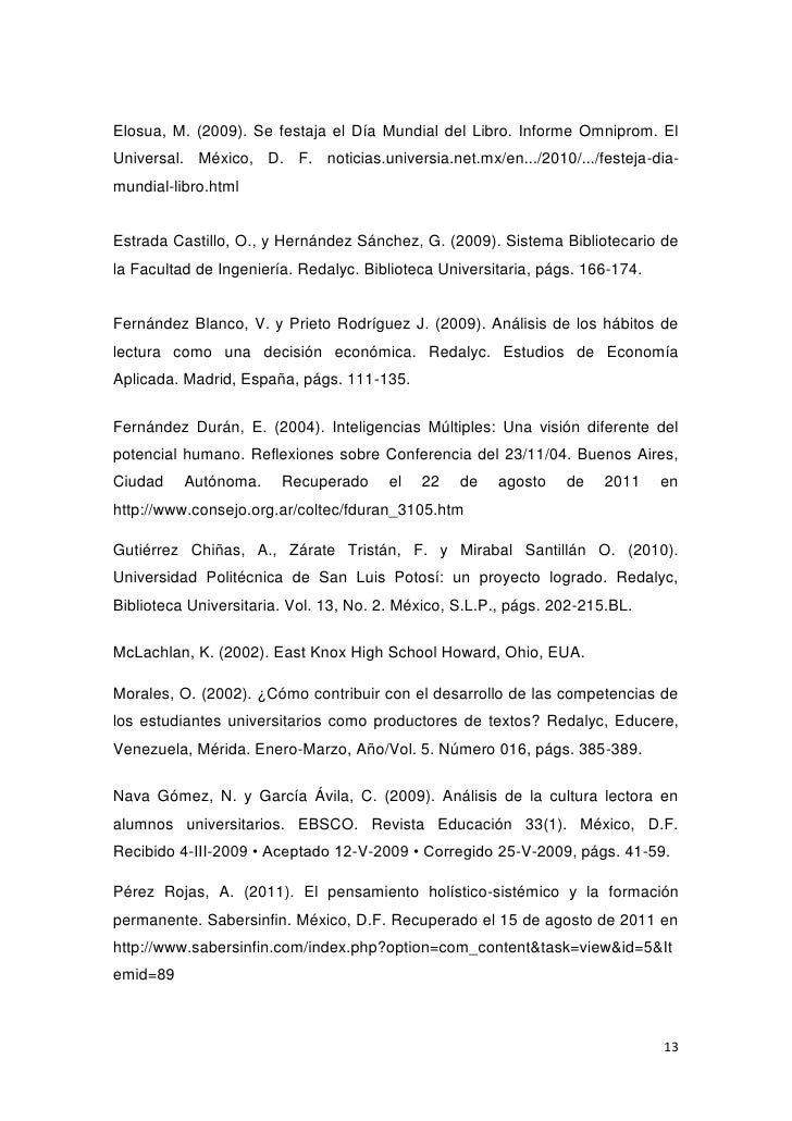 Elosua, M. (2009). Se festaja el Día Mundial del Libro. Informe Omniprom. ElUniversal. México, D. F. noticias.universia.ne...