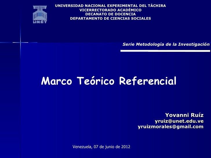 UNIVERSIDAD NACIONAL EXPERIMENTAL DEL TÁCHIRA            VICERRECTORADO ACADÉMICO              DECANATO DE DOCENCIA       ...