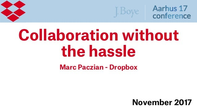 Collaboration without the hassle Marc Paczian - Dropbox November 2017