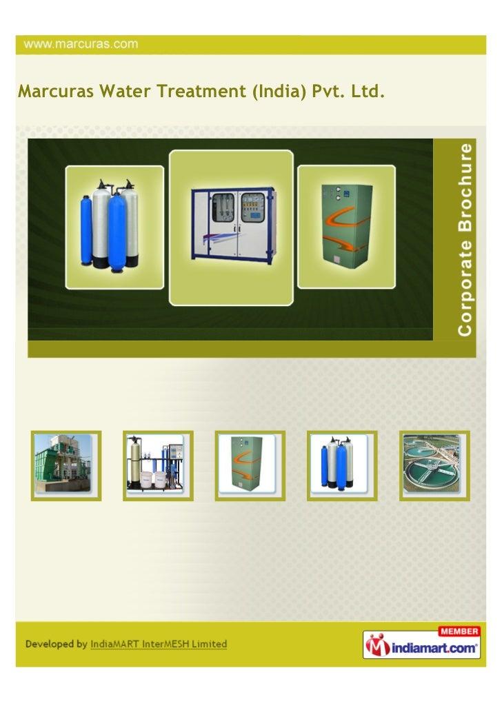 Marcuras Water Treatment (India) Pvt. Ltd.