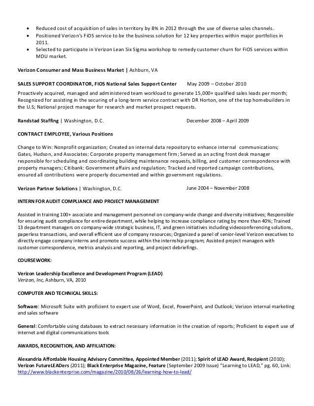 verizon resume resume ideas