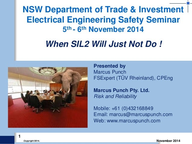 Marcus Punch - When SIL2 will just not do!