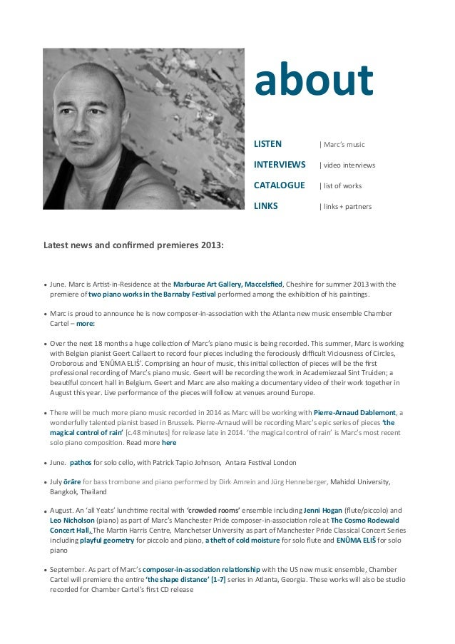 marc yeats linked cv biography 2013