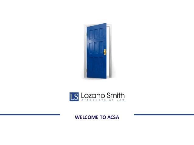 WELCOME TO ACSA