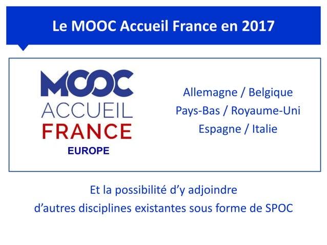 www.mooc-accueil.fr Rejoignez l'équipe de France de l'accueil ! Merci pour votre attention