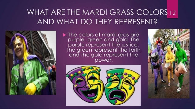 What are the colors associated with marti gra?