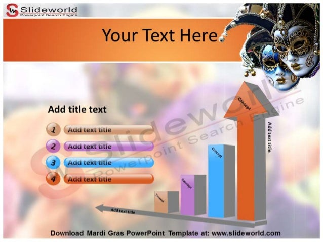 mardi gras powerpoint template - slideworld, Powerpoint templates