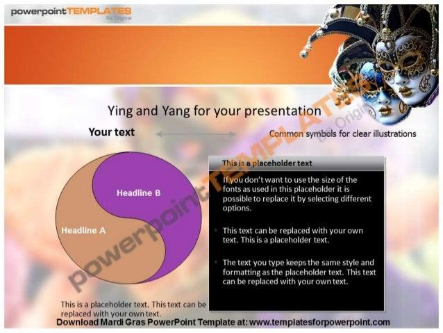 mardi gras powerpoint template - templatesforpowerpoint, Powerpoint templates